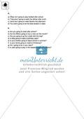 Klassenarbeit going-to-future - einfach (2) - mit Lösungen Preview 4