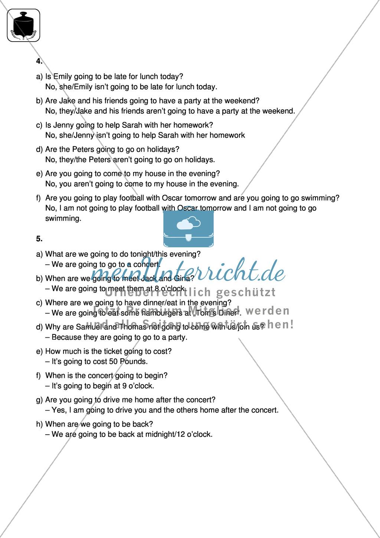 Klassenarbeit going-to-future - schwer (1) - mit Lösungen Preview 3