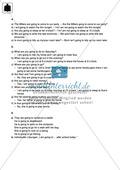 Klassenarbeit going-to-future - schwer (2) - mit Lösungen Preview 4