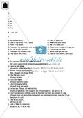 Klassenarbeit pronouns and question words - schwer (2) - mit Lösungen Preview 3