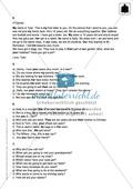 Klassenarbeit pronouns and question words - schwer (2) - mit Lösungen Preview 4