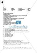 Klassenarbeit At home - einfach (2) - mit Lösungen Preview 4