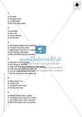 Klassenarbeit simple present - einfach (1) - mit Lösungen Preview 3