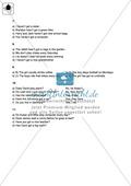 Klassenarbeit simple present - einfach (1) - mit Lösungen Preview 4