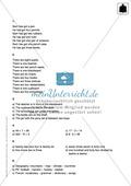 Klassenarbeit At school - schwer (1) - mit Lösungen Preview 3