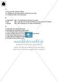 Klassenarbeit At school - schwer (1) - mit Lösungen Preview 4