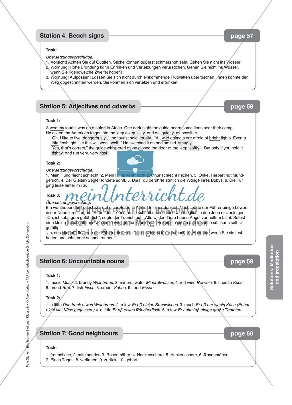 Stationenlernen in der 9. Klasse: Mediation and translation Preview 15