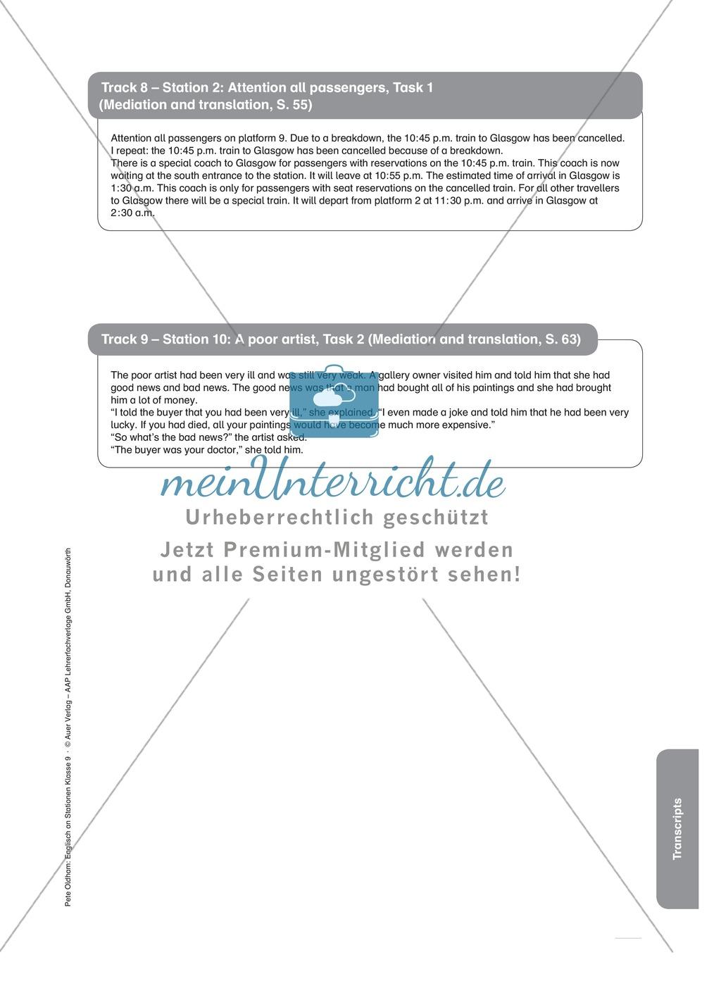 Stationenlernen in der 9. Klasse: Mediation and translation Preview 17