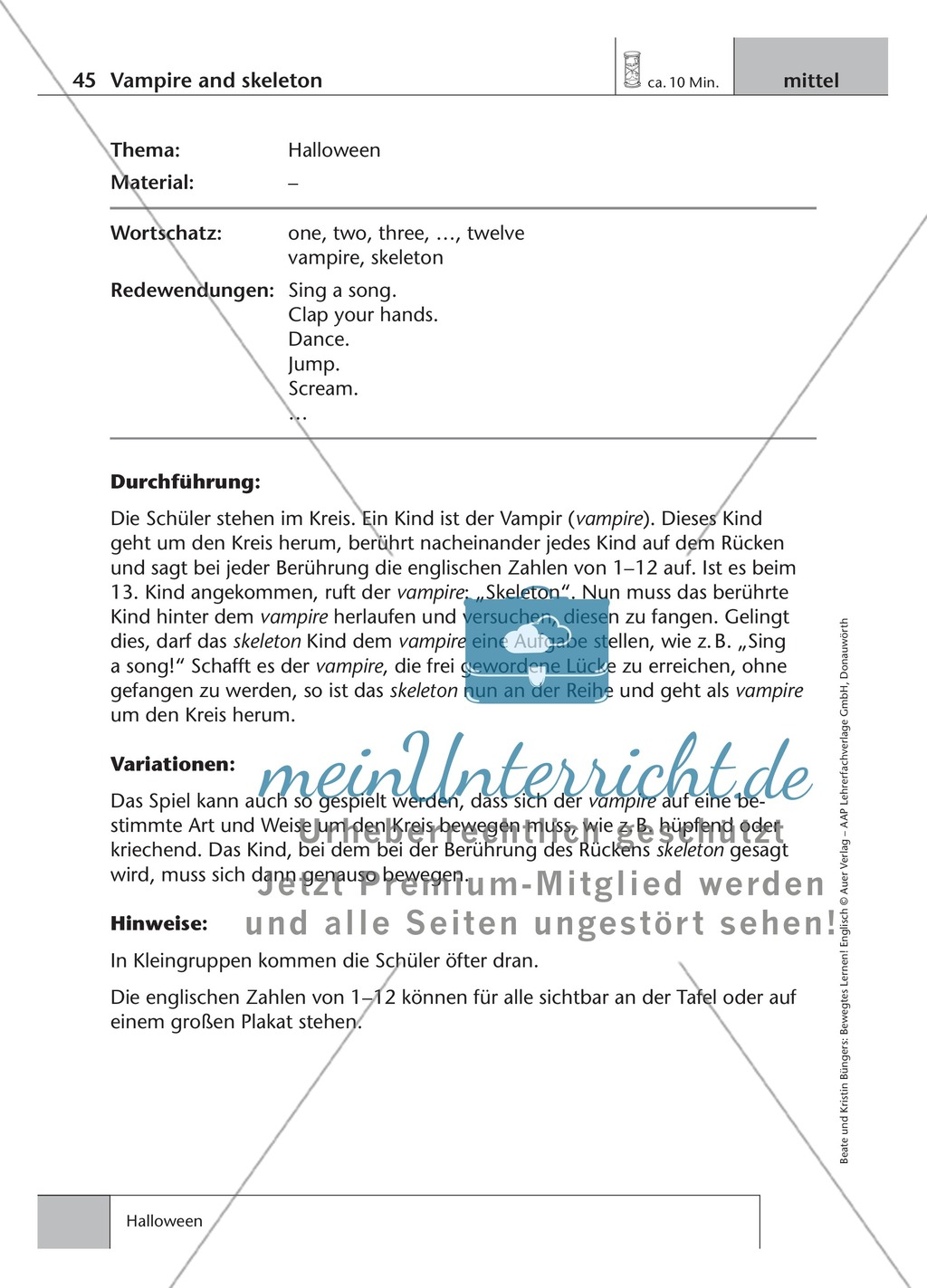 Englisch lernen mit Bewegung: Exercises on the topics: seasons + weather + special holidays + time + prepositions Preview 11