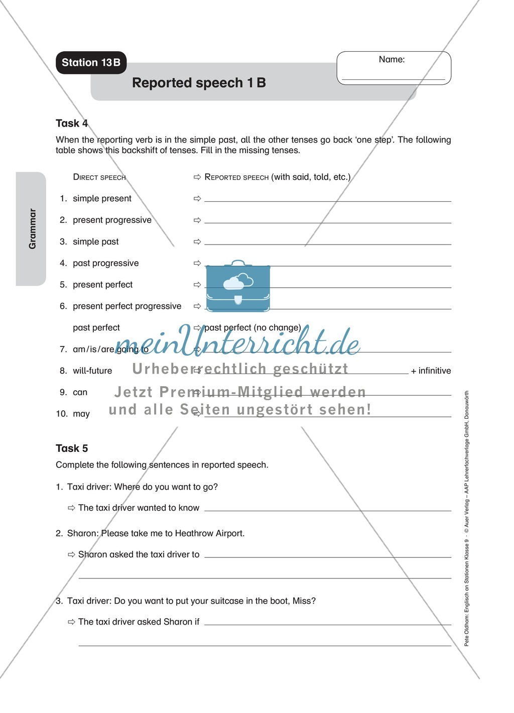 Stationenlernen in der 9. Klasse: Grammar an 8 Stationen Preview 17