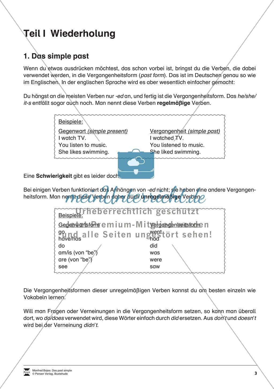grundwissen grammatik erklrung simple past fr schler preview 0 - Simple Past Beispiele