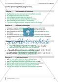 Exercises present perfect progressive + Lösungen Preview 5