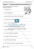Exercises past progressive + Lösungen Preview 1
