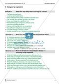 Exercises past progressive + Lösungen Preview 4