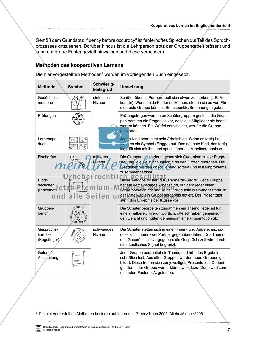 Kooperatives Lernen im Englischunterricht: Grundlagen + Ziele + Methoden Preview 2