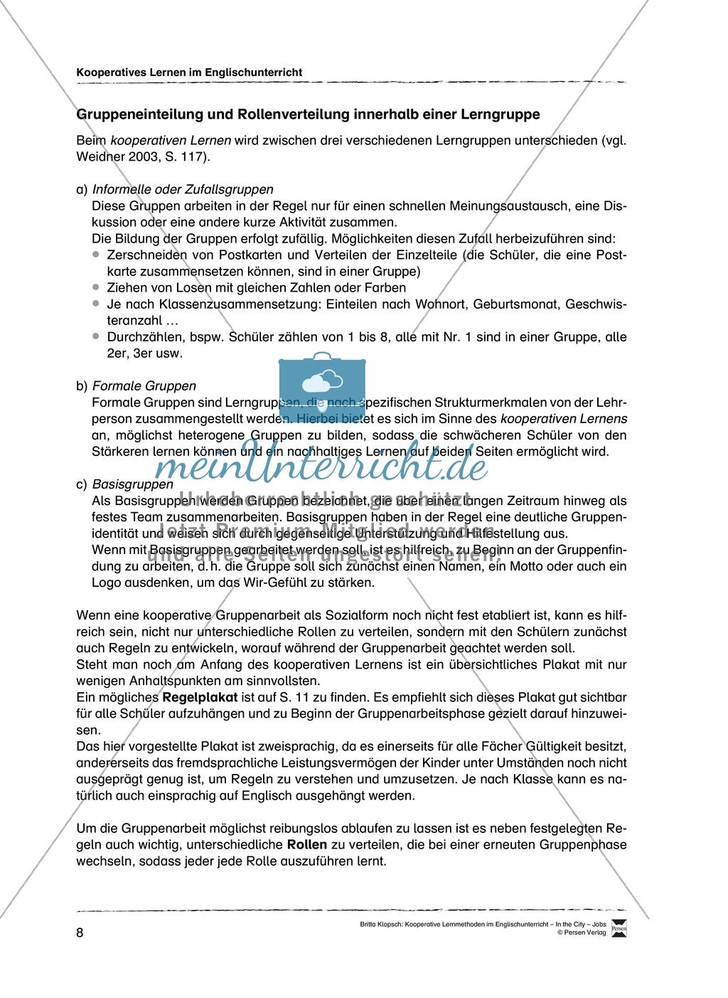 Kooperatives Lernen im Englischunterricht: Grundlagen + Ziele + Methoden Preview 3