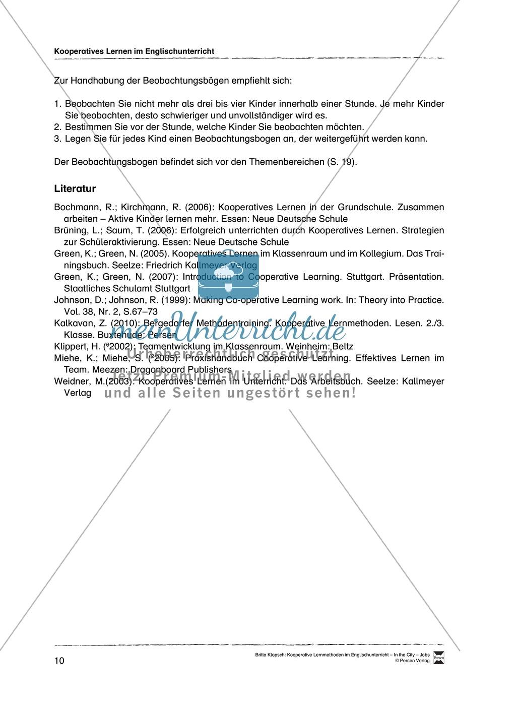 Kooperatives Lernen im Englischunterricht: Grundlagen + Ziele + Methoden Preview 5