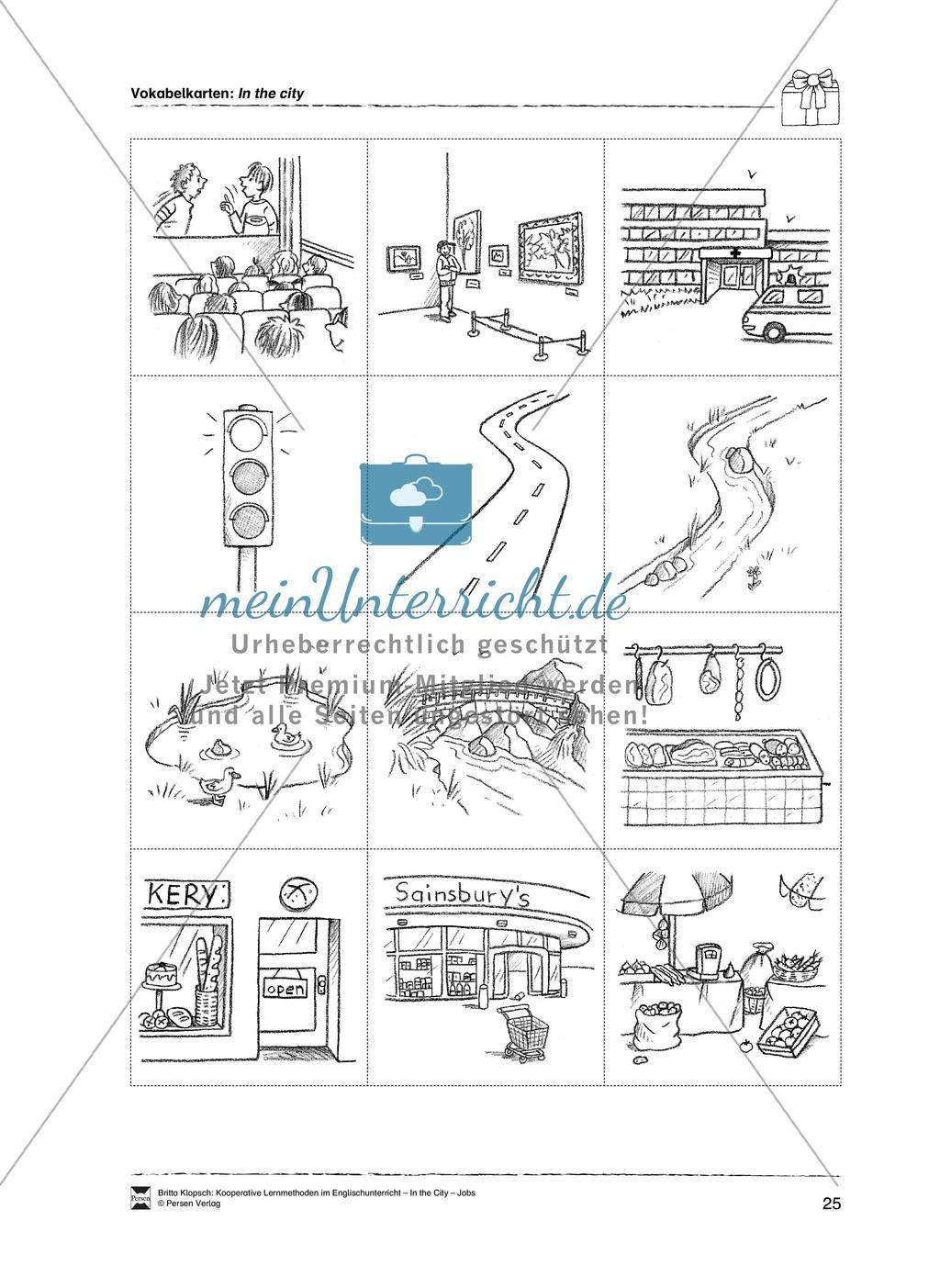 Themenbereich In the City: Vorgehensweise + Kopiervorlagen Preview 14