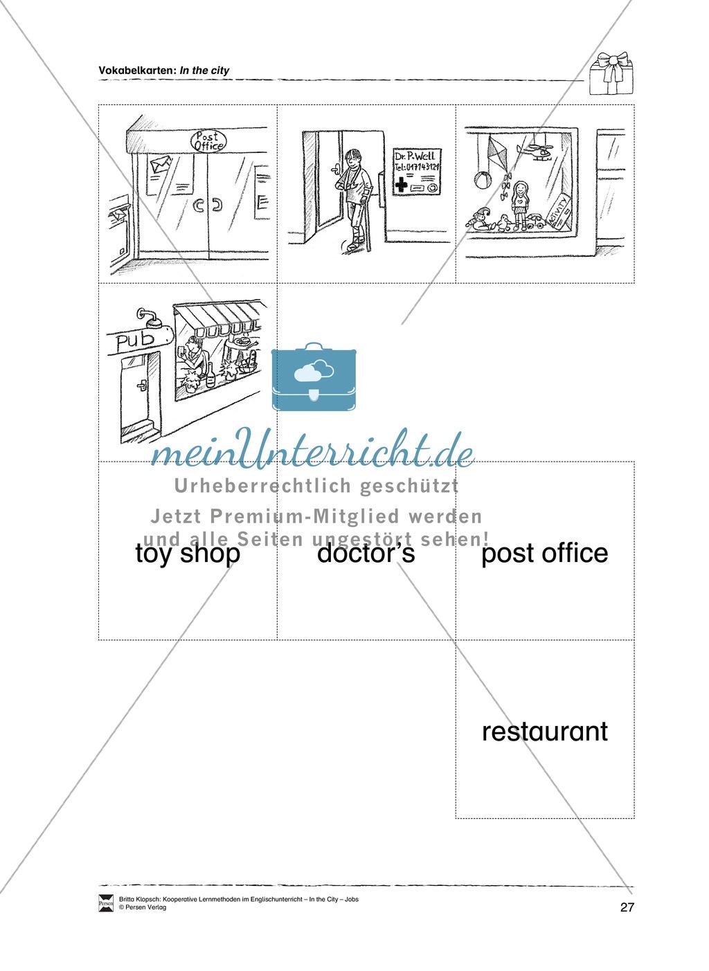 Themenbereich In the City: Vorgehensweise + Kopiervorlagen Preview 16