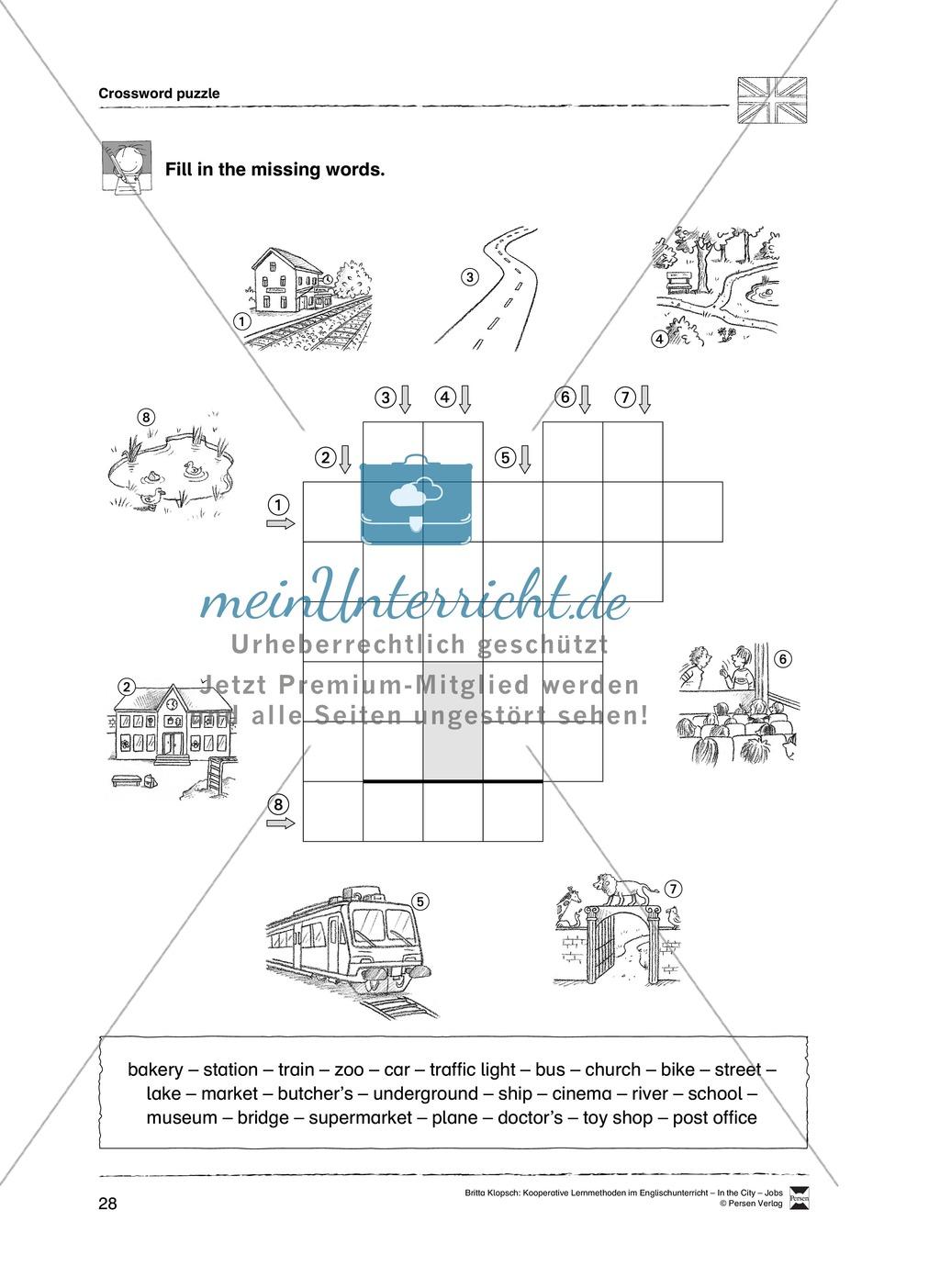 Themenbereich In the City: Vorgehensweise + Kopiervorlagen Preview 17