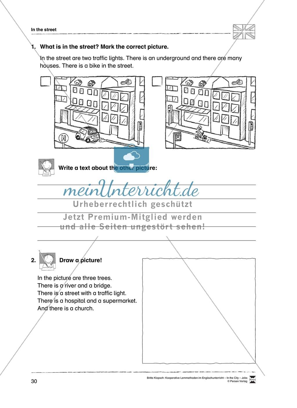 Themenbereich In the City: Vorgehensweise + Kopiervorlagen Preview 19