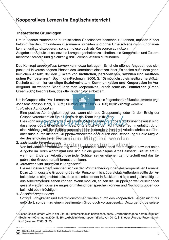 Kooperatives Lernen im Englischunterricht: Grundlagen + Ziele Preview 0