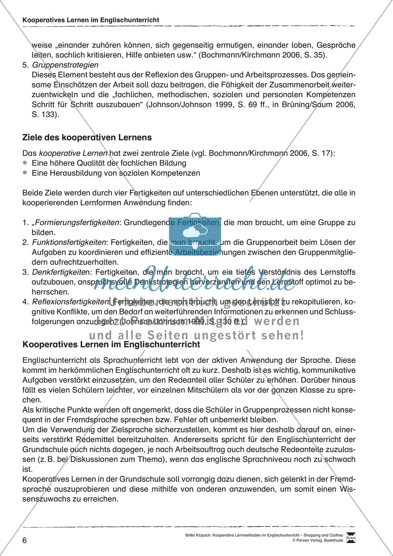 Kooperatives Lernen im Englischunterricht: Grundlagen + Ziele Preview 1