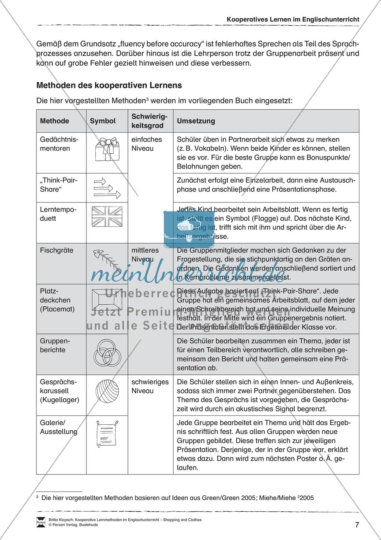 Kooperatives Lernen im Englischunterricht: Grundlagen + Ziele Preview 2