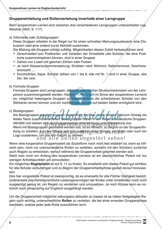 Kooperatives Lernen im Englischunterricht: Grundlagen + Ziele Preview 3
