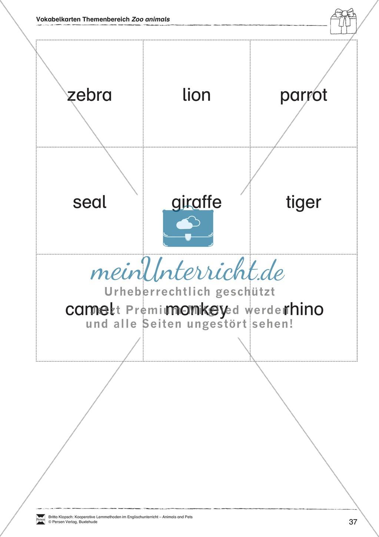 Kooperatives Lernen: Themenbereich Zoo Animals + Kopiervorlagen Preview 12