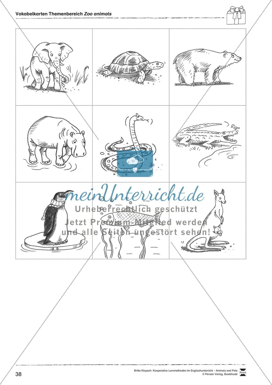 Kooperatives Lernen: Themenbereich Zoo Animals + Kopiervorlagen Preview 13