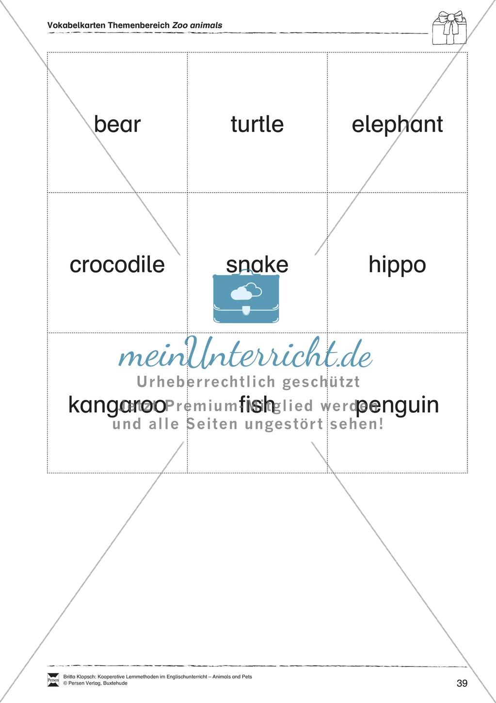 Kooperatives Lernen: Themenbereich Zoo Animals + Kopiervorlagen Preview 14