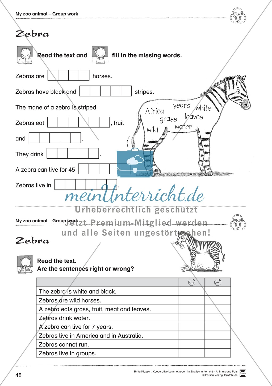 Kooperatives Lernen: Themenbereich Zoo Animals + Kopiervorlagen Preview 23