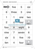 Numbers vocabulary: Worksheets on numbers (Binnendifferenziert) Preview 8