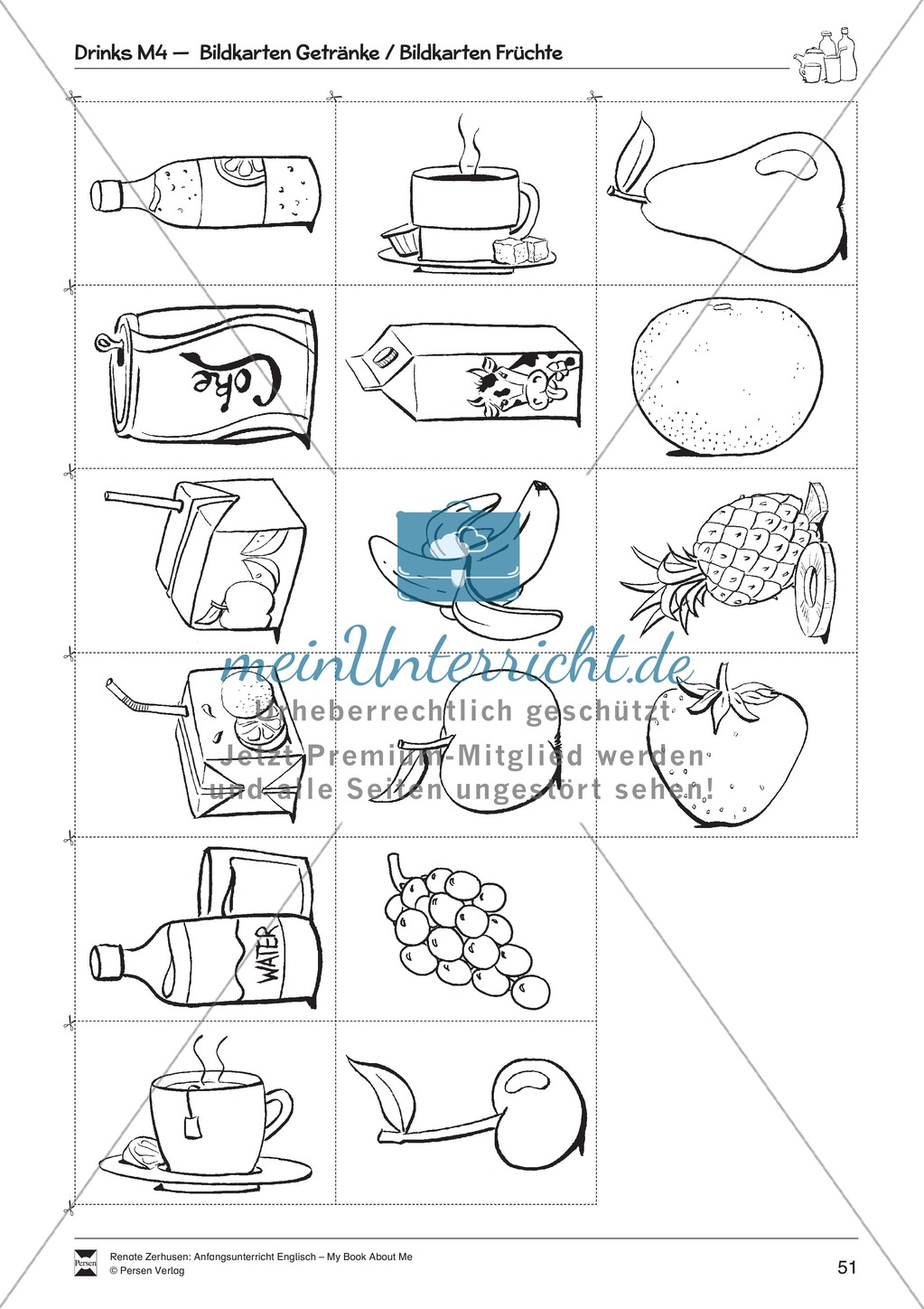 Drinks vocabulary: Worksheets on drinks (Binnendifferenziert) Preview 6
