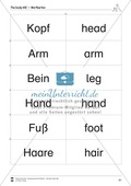 The body vocabulary: Worksheets on the body (Binnendifferenziert) Preview 7