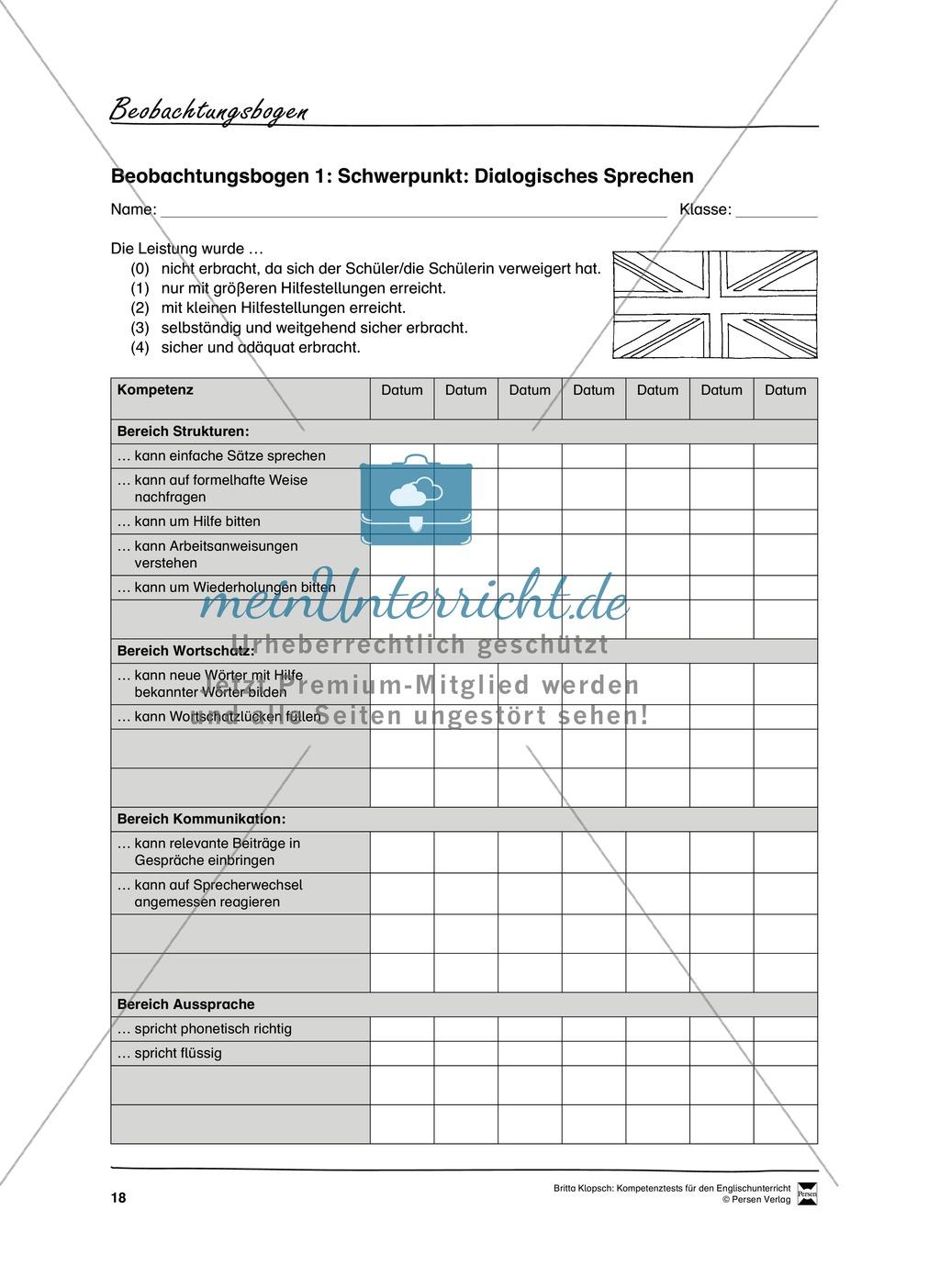 Die praktische Umsetzung - Kompetenzüberprüfung durch Beobachtung: Vorgehensweise + Beobachtungsbögen Preview 6