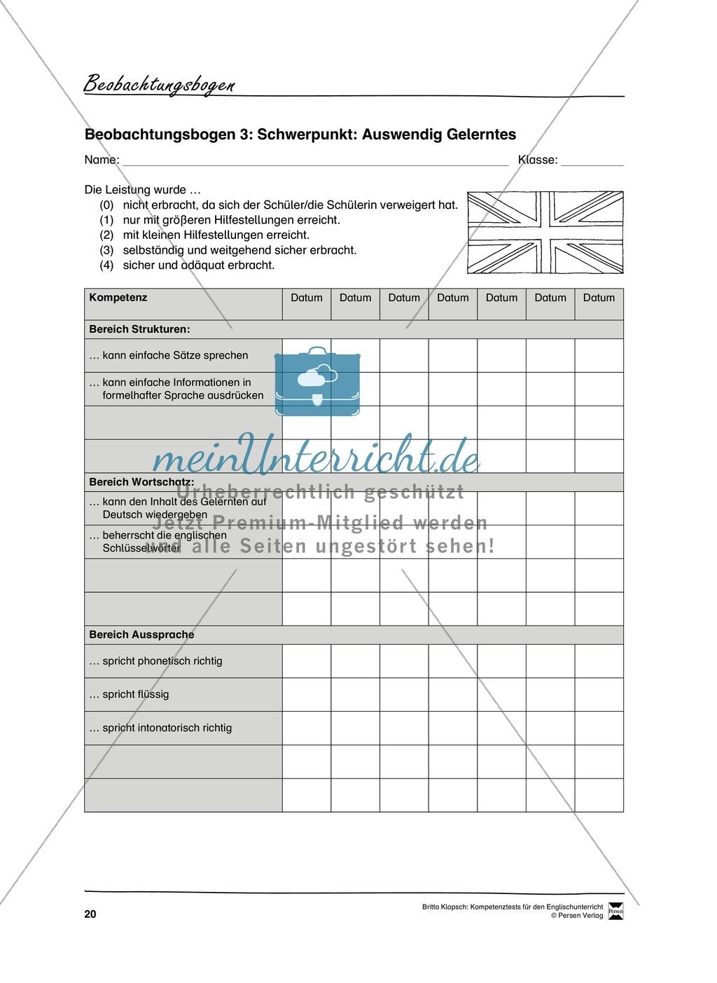 Die praktische Umsetzung - Kompetenzüberprüfung durch Beobachtung: Vorgehensweise + Beobachtungsbögen Preview 8