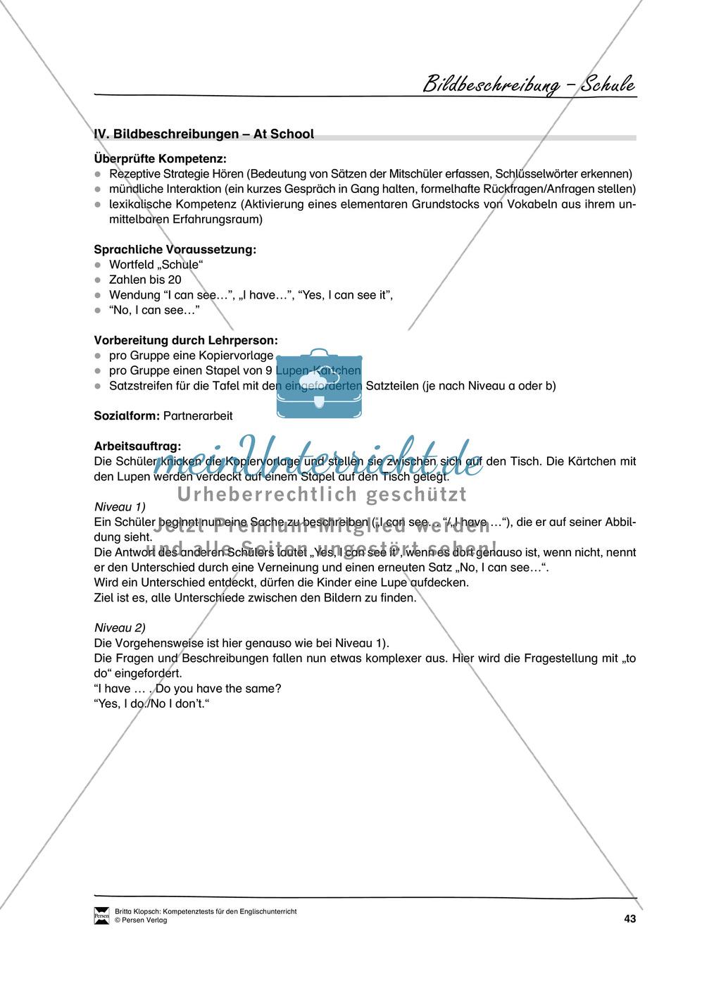 Kompetenzüberprüfung durch Beobachtung: Sprachliche Mittel in Partner- und Gruppenarbeit: Erklärung + Kopiervorlagen Preview 12