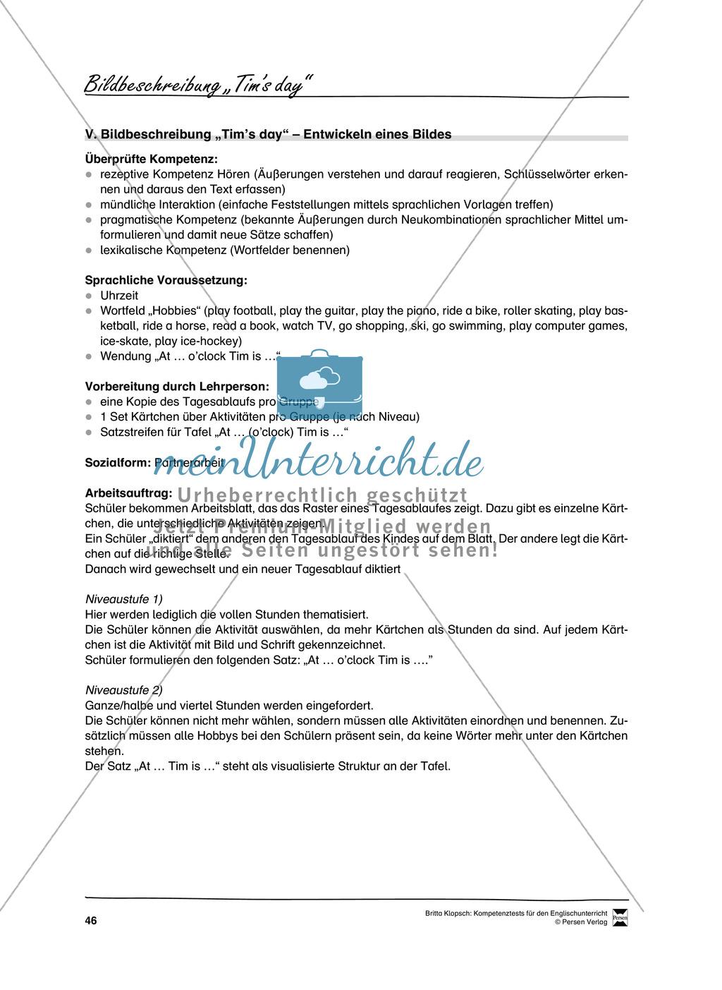 Kompetenzüberprüfung durch Beobachtung: Sprachliche Mittel in Partner- und Gruppenarbeit: Erklärung + Kopiervorlagen Preview 15