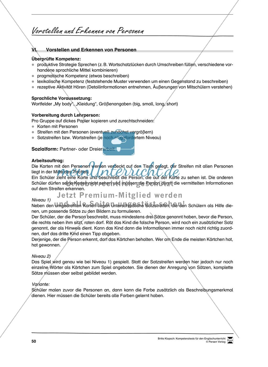 Kompetenzüberprüfung durch Beobachtung: Sprachliche Mittel in Partner- und Gruppenarbeit: Erklärung + Kopiervorlagen Preview 19