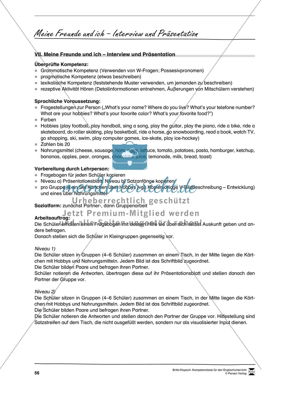 Kompetenzüberprüfung durch Beobachtung: Sprachliche Mittel in Partner- und Gruppenarbeit: Erklärung + Kopiervorlagen Preview 25
