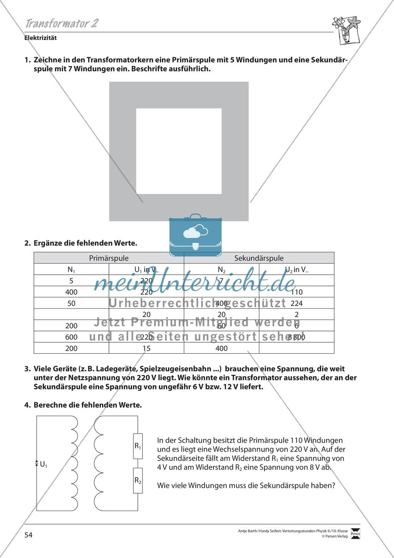 transformator prim rspule und sekund rspule fehlende werte berechnen meinunterricht. Black Bedroom Furniture Sets. Home Design Ideas