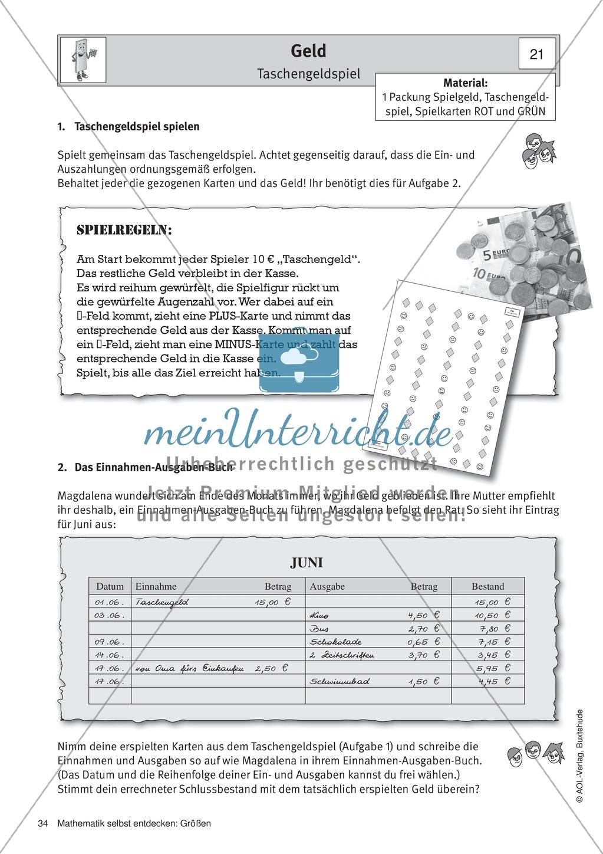 Geld: Unterrichtsmaterial zu verschiedenen Währungen und ein ...