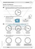 Mathematik, Zahlen & Operationen, Arithmetik, größen und messen, Zeitspannen, Uhrzeit
