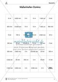 Maßeinheiten-Domino - Übung zum Umrechnen von Einheiten Preview 2