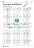 Mathematik, Grundrechenarten, Grenzprozesse & Approximation, Zahlen & Operationen, Multiplikation, Zahlenreihe, arbeitsblätter