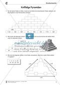 Zahlenpyramide zur Übung der Addition großer Zahlen Preview 1