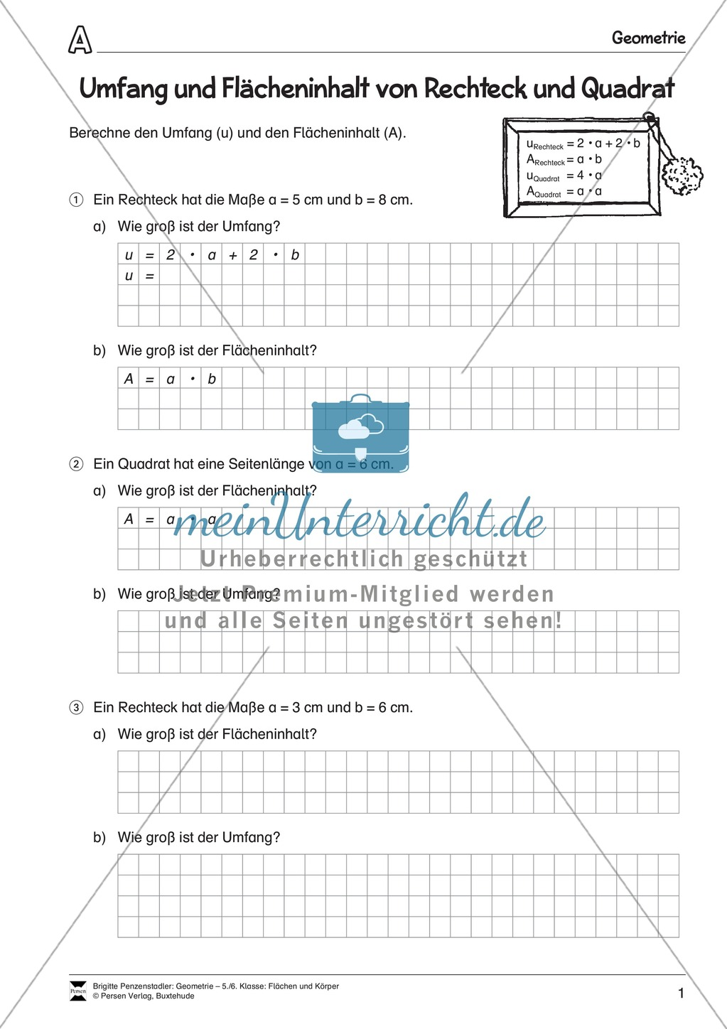 Exelent 5Klasse Umfang Arbeitsblatt Picture Collection - Mathe ...