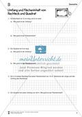Umfang und Flächeninhalt von Rechteck und Quadrat Preview 2